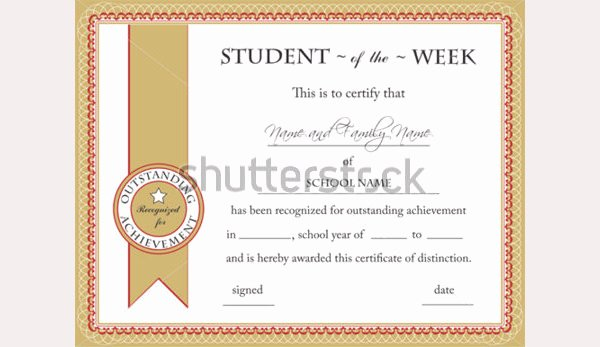 Student Of the Week Certificate Template Fresh 50 Creative Custom Certificate Design Templates