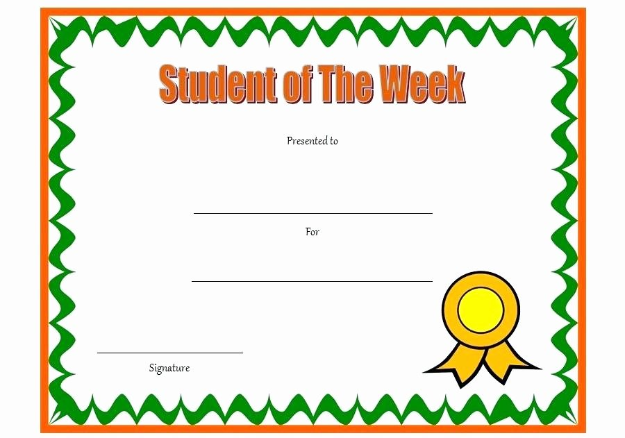 Student Of the Week Template Beautiful Free Customizable Award Certificates – Stiropor Idea