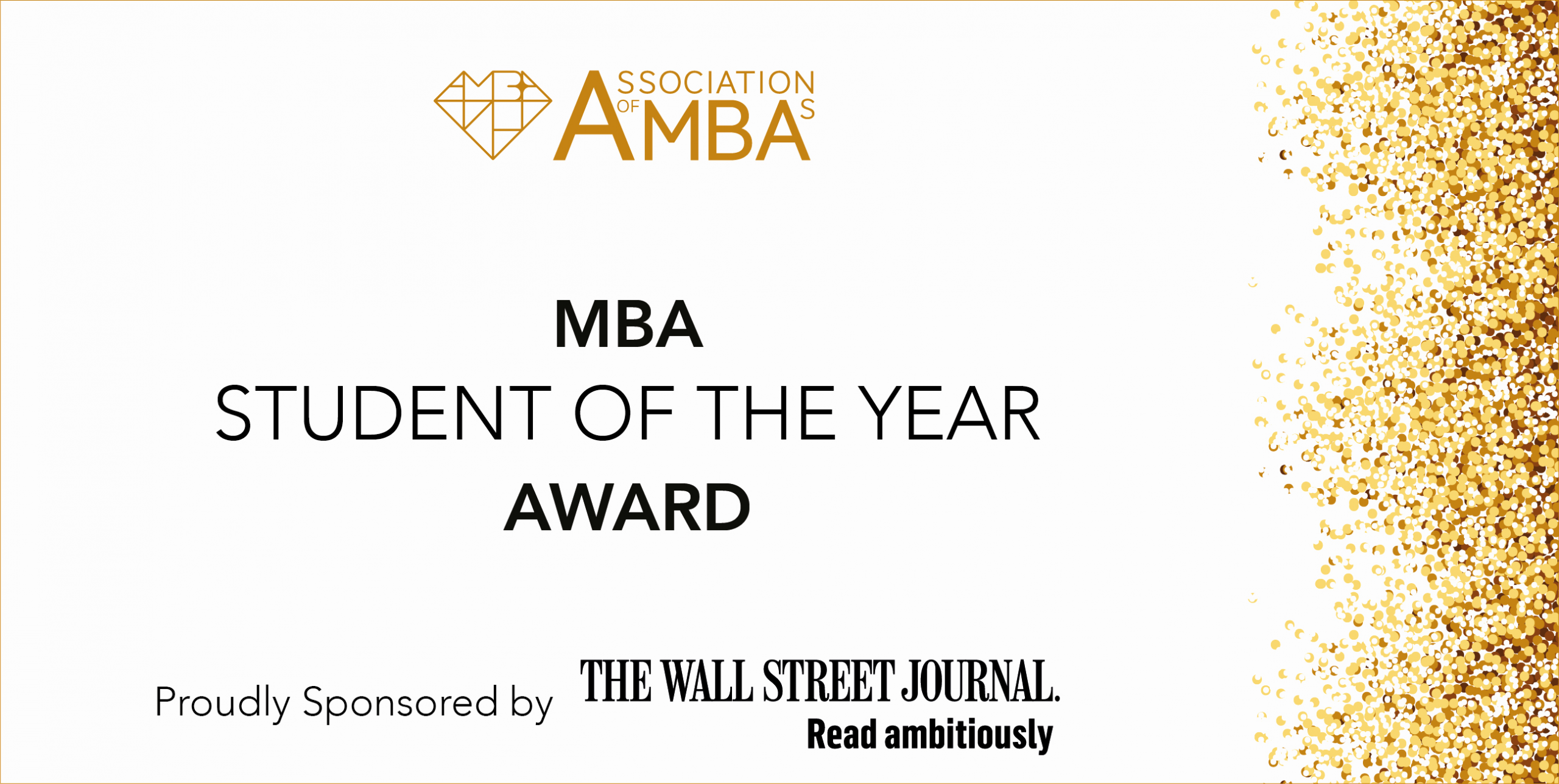 Student Of the Year Certificate Best Of Mba Student Of the Year Award association Of Mbas