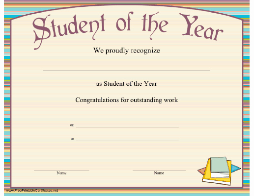 Student Of the Year Certificate New top 5 Resources to Get Free Student the Year Award