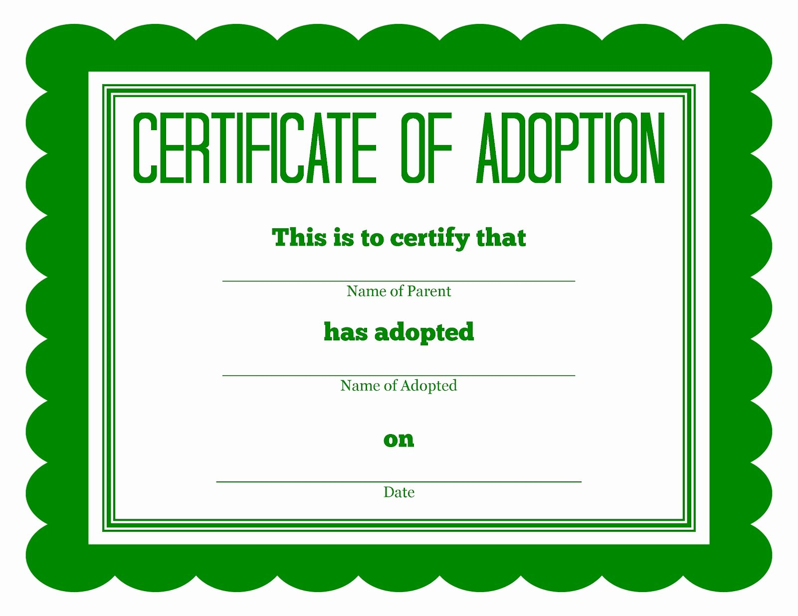 Stuffed Animal Adoption Certificate Template Fresh More Stuffed Animal Adoption Certificates