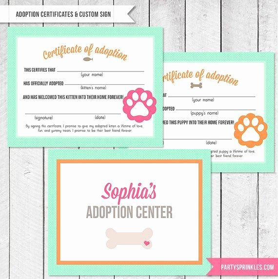 Stuffed Animal Adoption Certificate Template Inspirational Puppy Adoption Certificate Template Google Search
