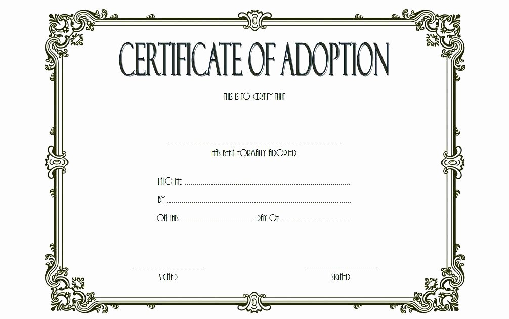 Stuffed Animal Adoption Certificate Template Unique Doll Birth Certificate Template – Ahegao