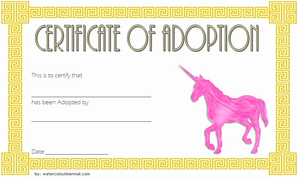 Stuffed Animal Adoption Certificate Template Unique Unicorn Adoption Certificate Templates [7 Wonderful