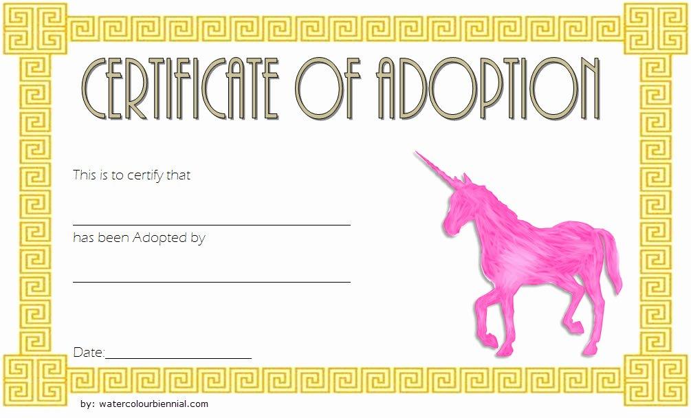 Stuffed Animal Adoption Certificate Template Unique Unicorn Adoption Certificate Templates [7 Wonderful