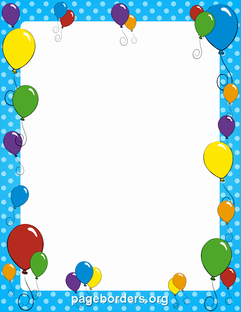 Summer Borders for Word Documents Best Of Balloon Border Clip Art Page Border and Vector Graphics
