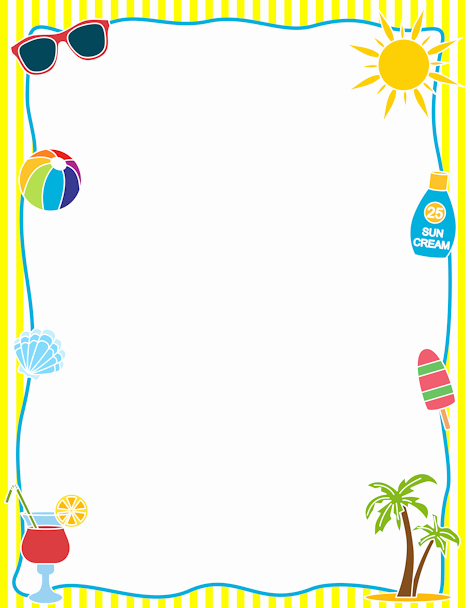 Summer Borders for Word Documents Best Of Printable Summer Border Free Gif Jpg Pdf and Png