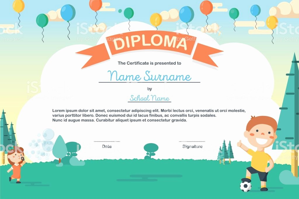 Summer Camp Certificate Template Awesome Colorful Kids Summer Camp Diploma Certificate Template In