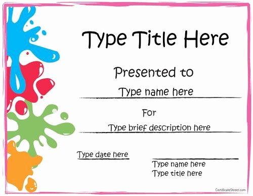 Summer Camp Certificate Template Awesome Printable Award Certificates for Kids