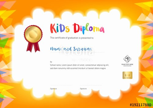 "Summer Camp Certificate Template Best Of ""kids Summer Camp Diploma or Certificate Template with"