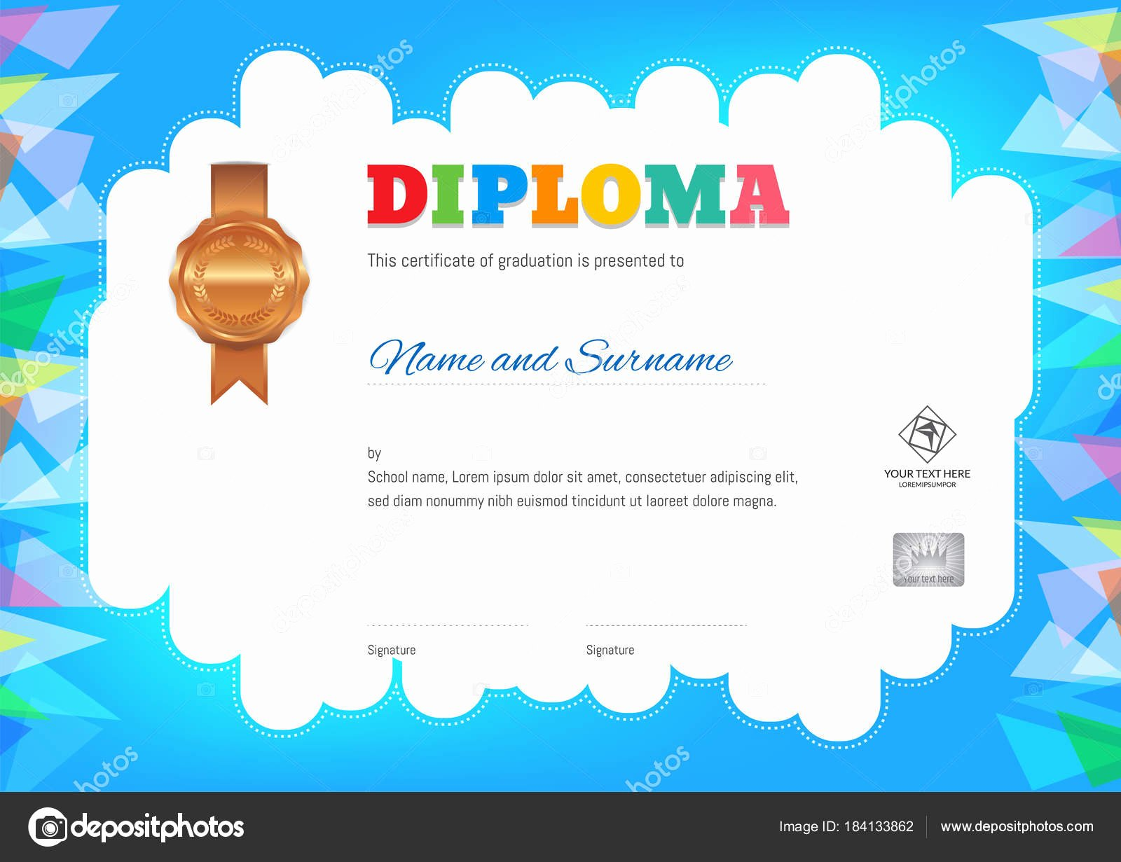 Summer Camp Certificate Template Fresh Kids Summer Camp Diploma or Certificate Template — Stock