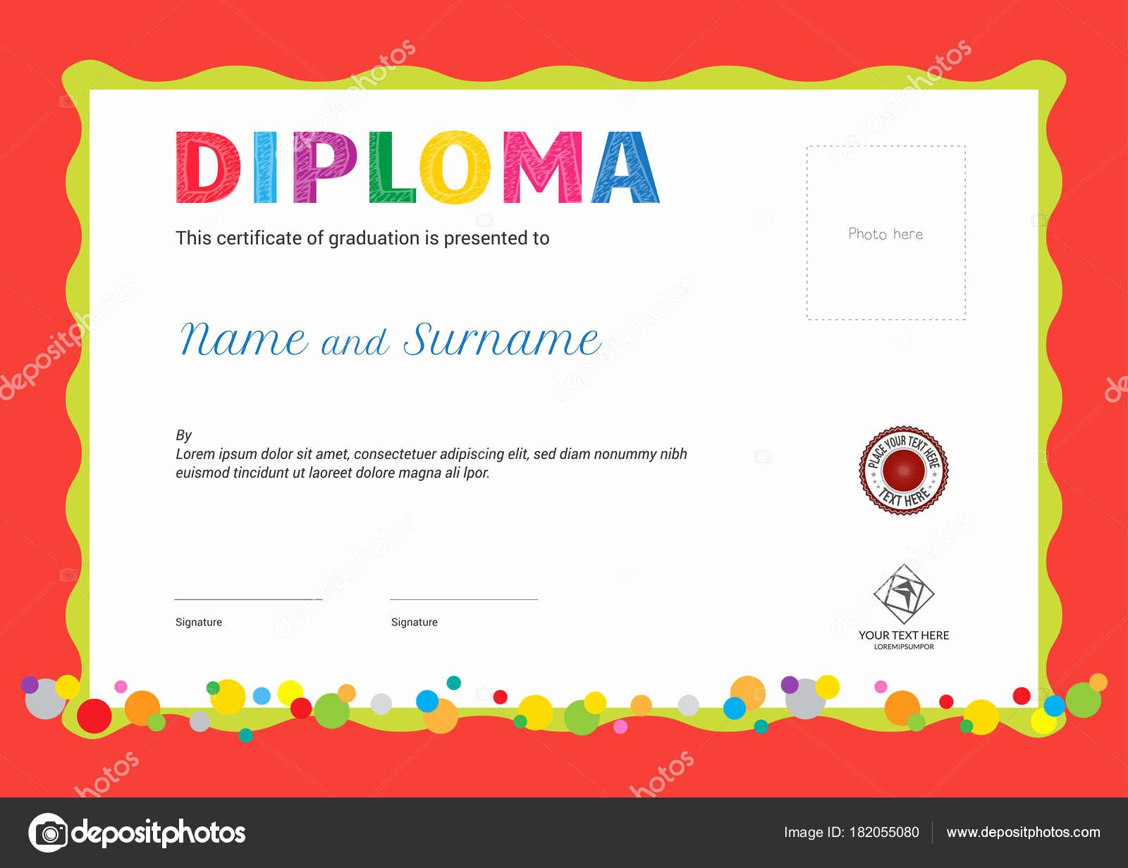 Summer Camp Certificate Template Luxury Kids Summer Camp Diploma or Certificate Template with