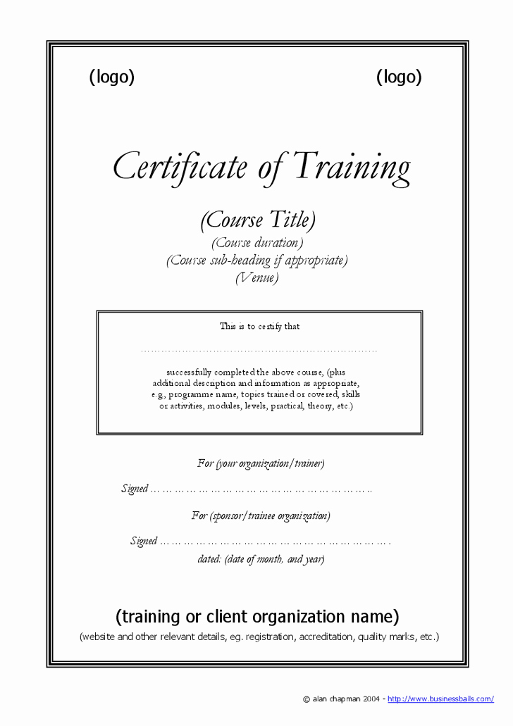 Summer Camp Certificate Template New Training Certificate Templates Pdf Doc Template