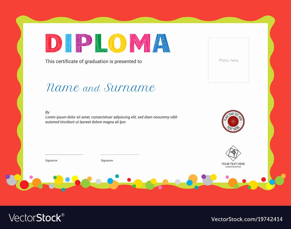Summer Camp Certificate Templates Fresh Kids Summer Camp Diploma or Certificate Template Vector Image