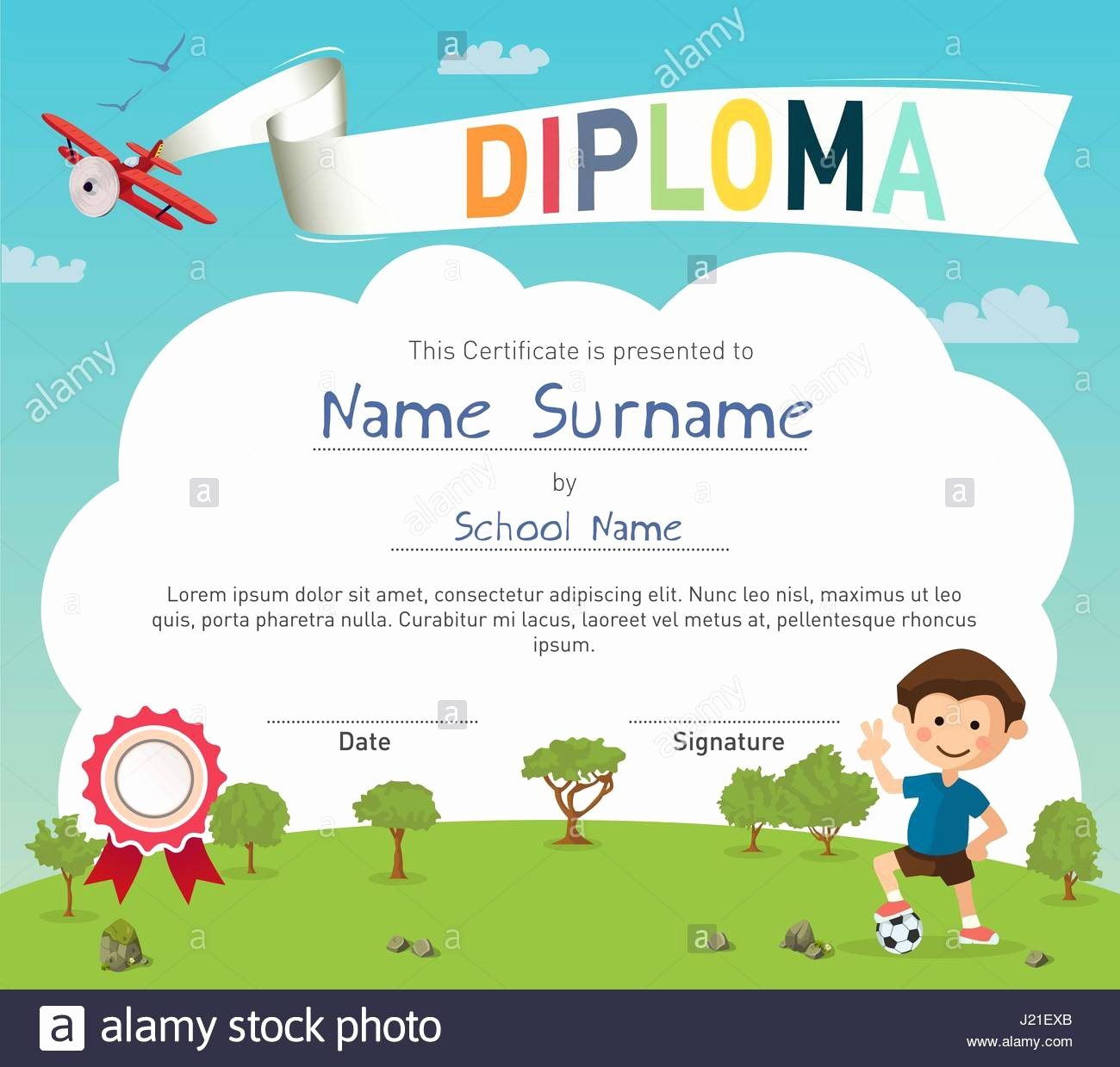 Summer Camp Certificate Templates Luxury Colorful Kids Summer Camp Diploma Certificate Template