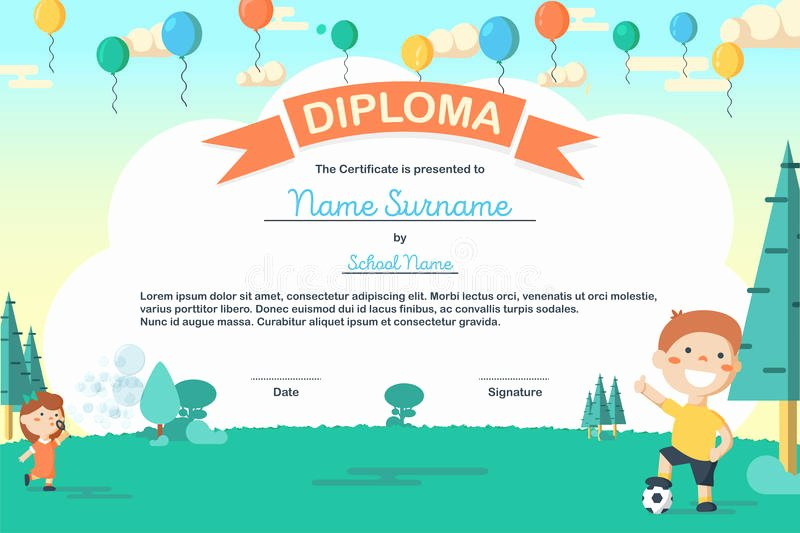 Summer Camp Certificate Templates Unique Colorful Kids Summer Camp Diploma Certificate Template In