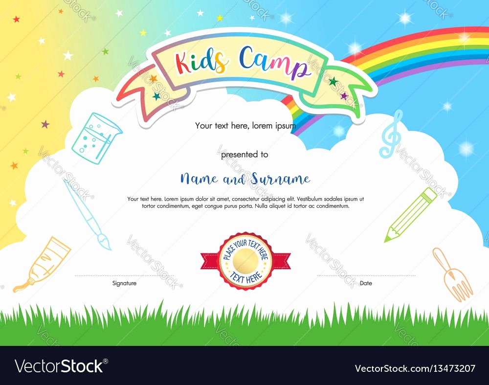 Summer Camp Certificate Templates Unique Pin by Оксана Дам ян On Сделай сам