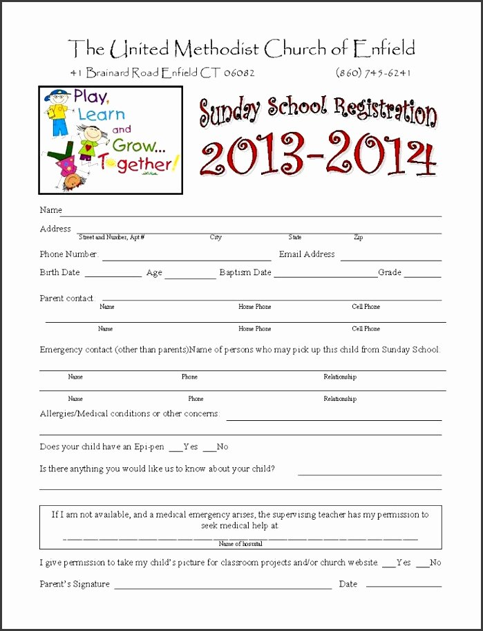 Summer Camp Registration form Template New 5 Free Summer Camp Registration form Template