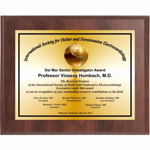 Sunday School Awards Recognition Beautiful Cherry Finish Landscape Appreciation Plaque