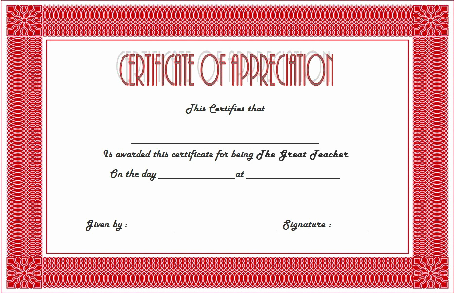 Sunday School Awards Recognition Luxury Teacher Appreciation Certificate Free Printable 10 Designs