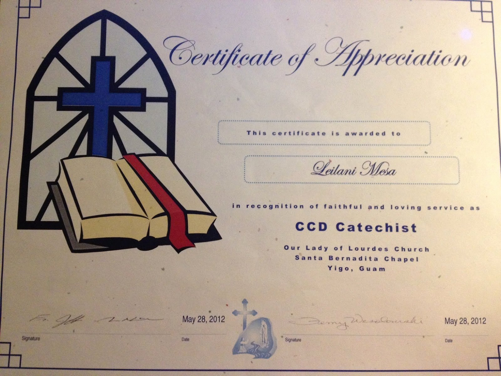 Sunday School Teacher Appreciation Certificates Elegant Lanimesa and Education