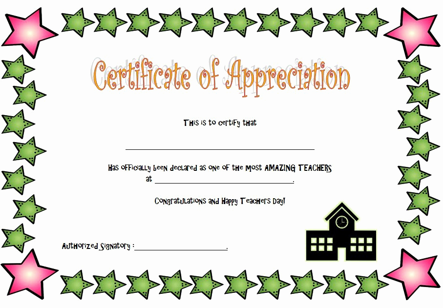 Sunday School Teacher Appreciation Certificates New Teacher Appreciation Certificate Free Printable 10 Ideas