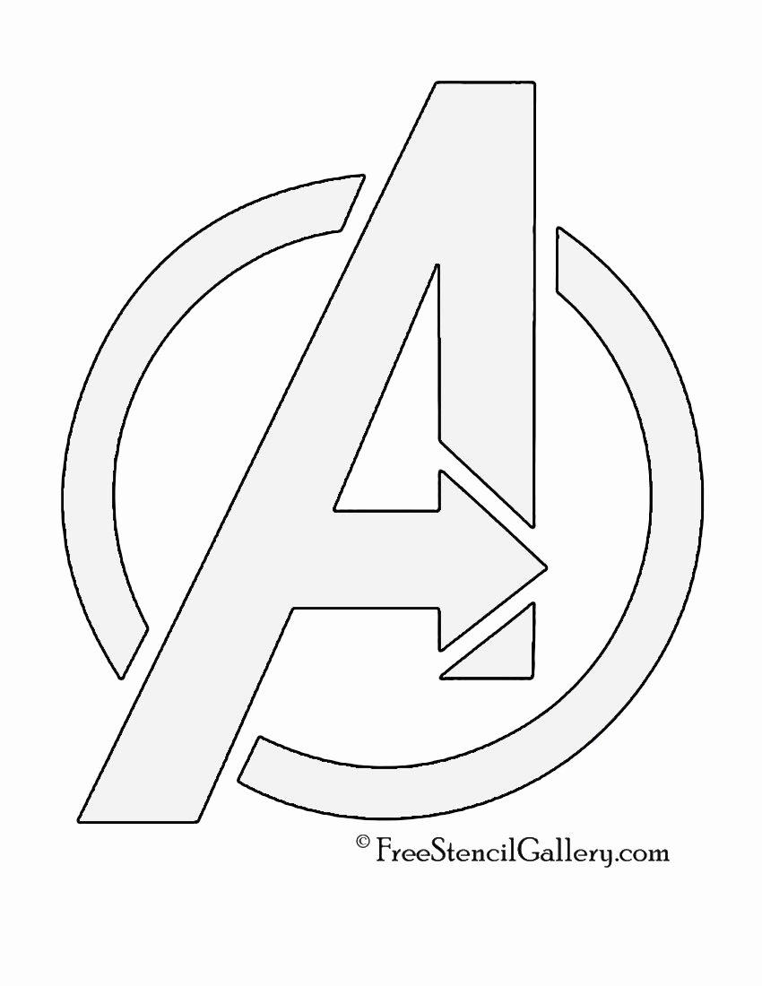 Superhero Stencils for Sale New Avengers Logo Stencil Party Pinterest