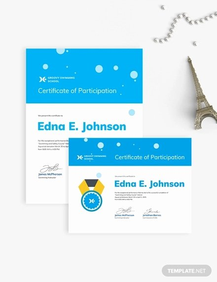 Swimming Certificate Template Free Awesome Swimming Certificate Template 8 Free Word Excel Pdf