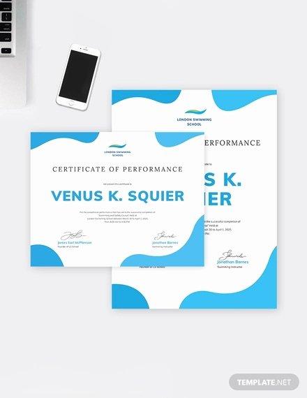 Swimming Certificate Template Free Beautiful Swimming Certificate Template 8 Free Word Excel Pdf