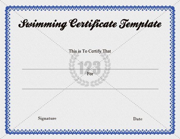 Swimming Certificate Template Free Fresh Free Swimming Certificate Template Download