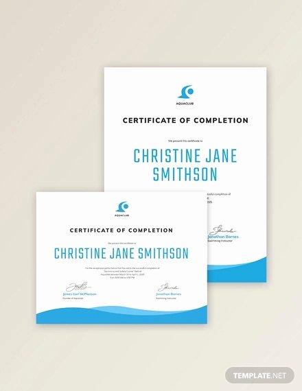 Swimming Certificate Template Free Fresh Swimming Certificate Template 8 Free Word Excel Pdf
