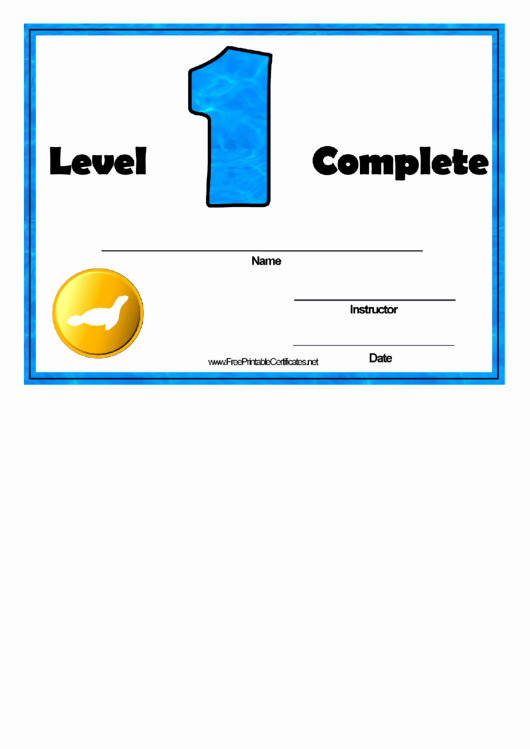 Swimming Lesson Certificate Template Beautiful Swimming Lessons Level E Printable Pdf