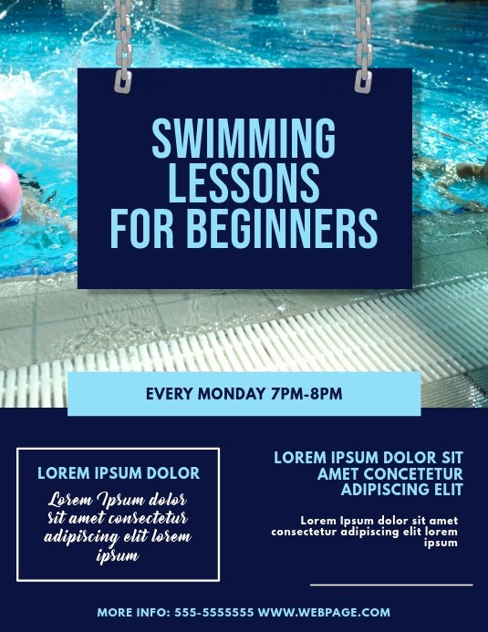 Swimming Lesson Certificate Template New Swimming Lessons Flyer Template