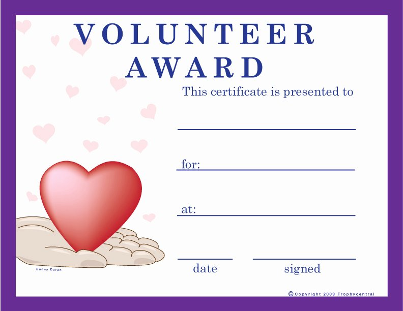 T Ball Certificate Templates Luxury Free Volunteer Certificates Exclusively From Trophycentral