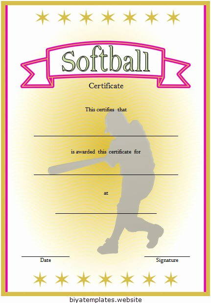 T Ball Certificate Templates Luxury Printable softball Certificate Templates [10 Best Designs