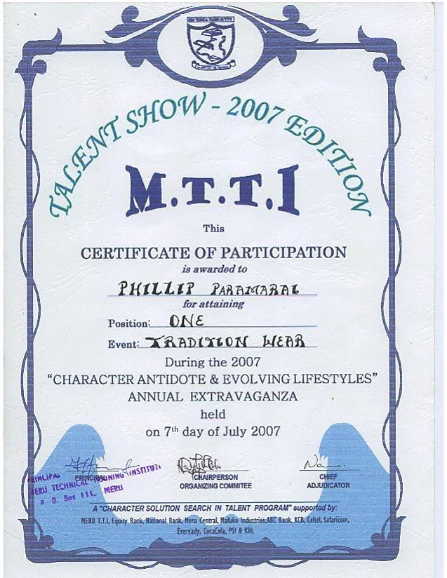 Talent Show Certificate Template Elegant Antagonist Placeholder