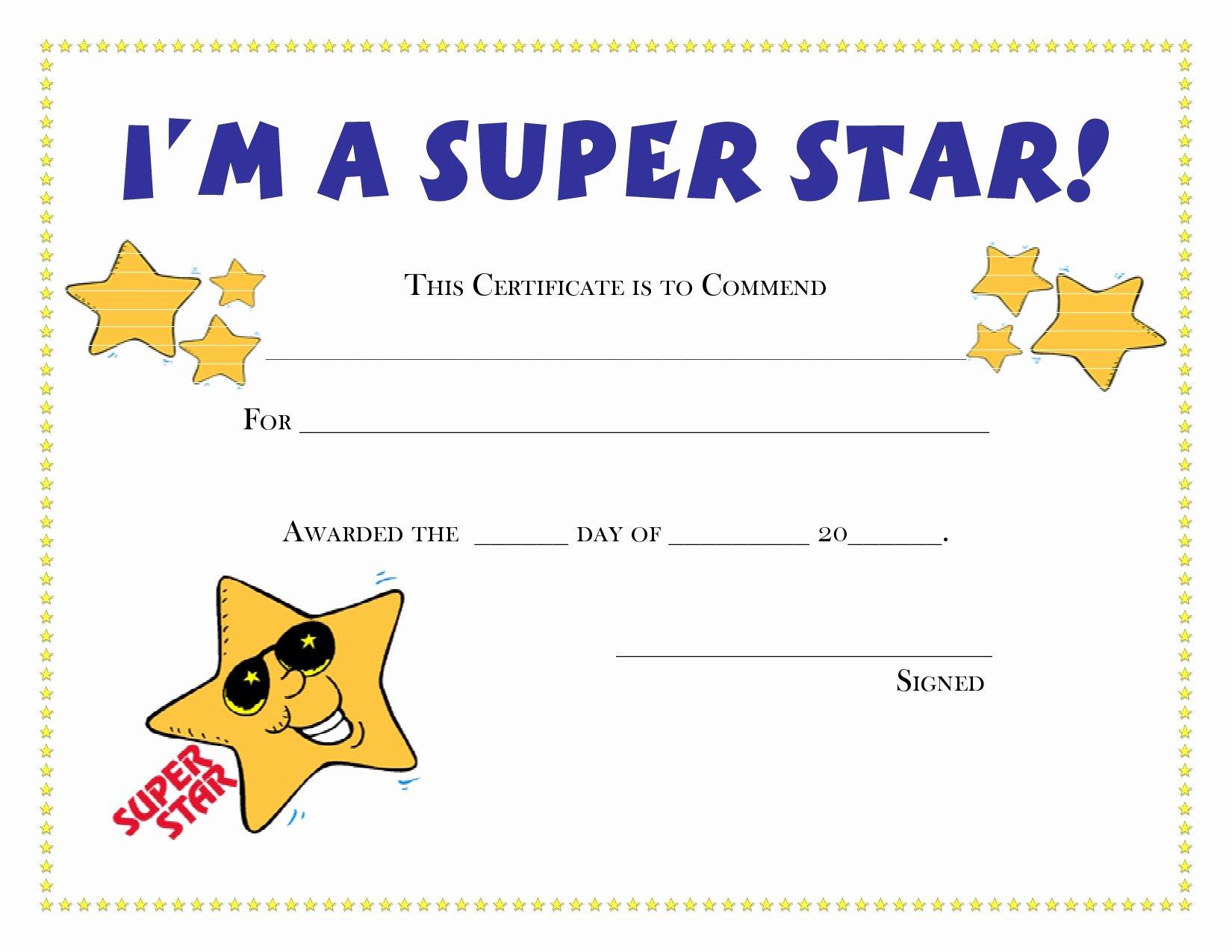 Talent Show Participation Certificates Beautiful Printable Certificate