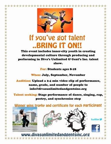 Talent Show Participation Certificates New Auburn Gresham Portal — Talent Search