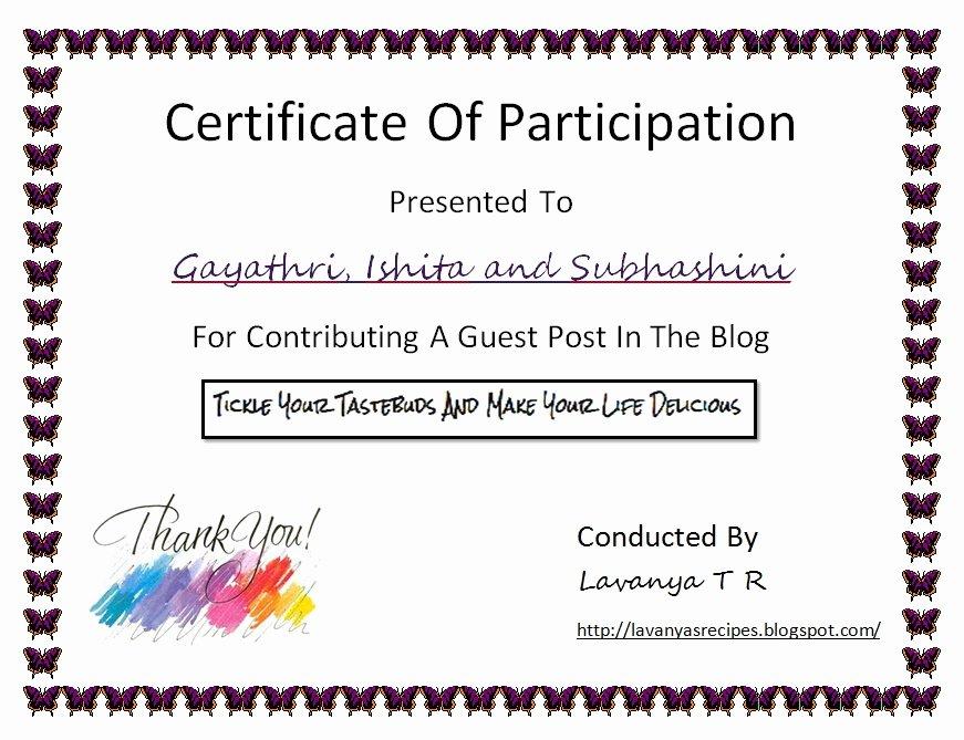 Talent Show Participation Certificates Unique Talent Show Participation Certificates