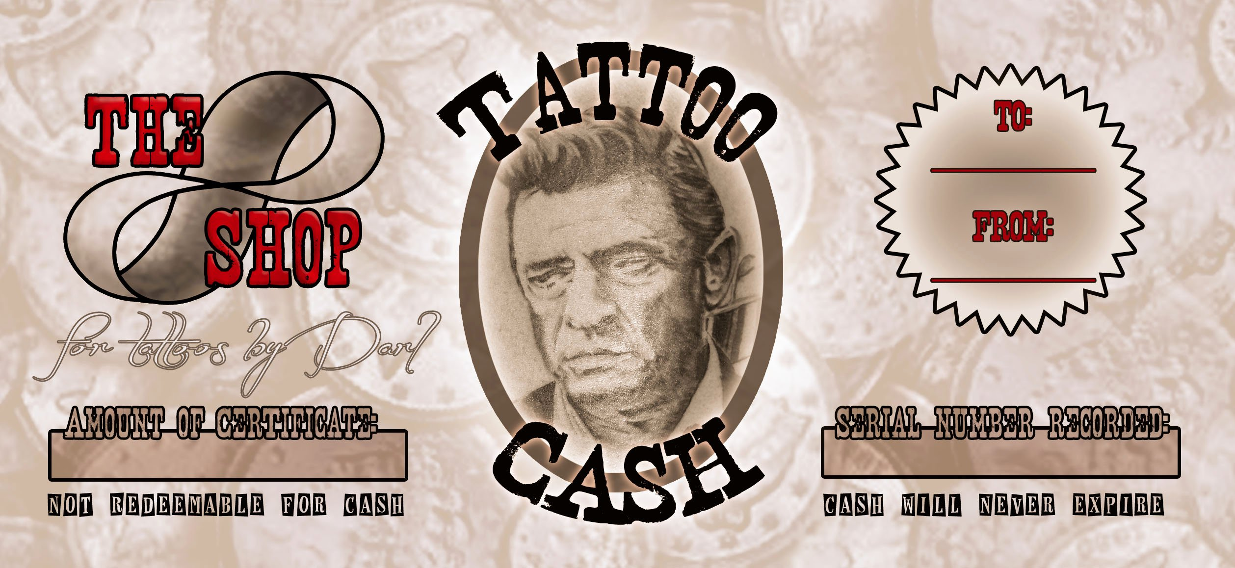 Tattoo Gift Certificate Template Free Unique Gift Certificates Info – the Shop Custom Tattoos