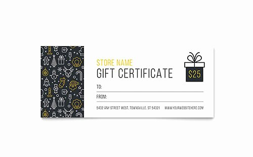 Tattoo Gift Certificate Template Fresh Gift Certificate Templates Indesign Illustrator