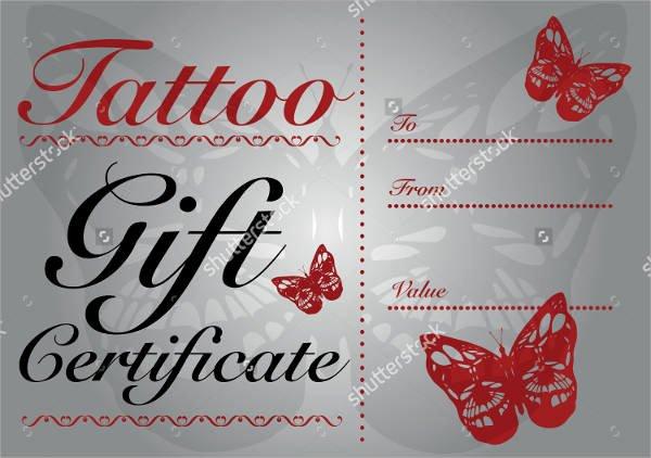 Tattoo Gift Certificate Template Luxury Sample Gift Certificate Template 64 Documents Download