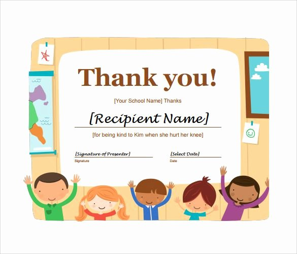 Teacher Appreciation Awards Printable Beautiful 11 Thank You Certificate Templates