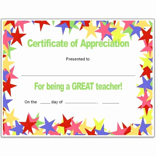 Teacher Appreciation Awards Printable Beautiful Free Teacher Appreciation Certificates Download Word and