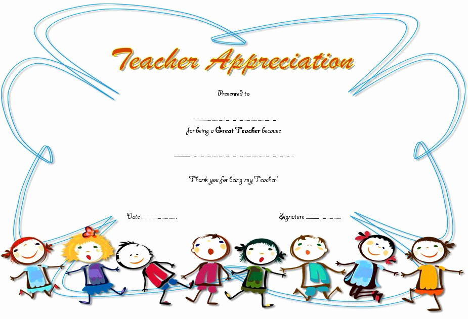 Teacher Appreciation Awards Printable Best Of Teacher Appreciation Certificate Free Printable 10 Designs