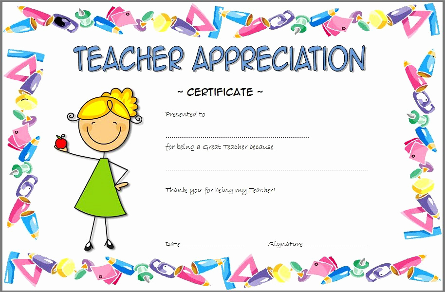 Teacher Appreciation Awards Printable Fresh Teacher Appreciation Certificate Free Printable 10 Ideas