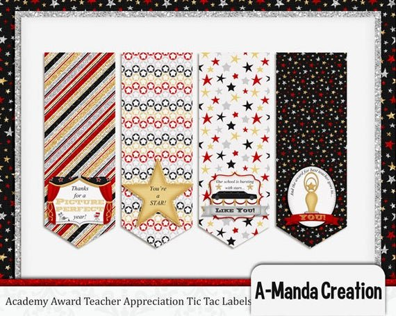 Teacher Appreciation Awards Printable Inspirational A Manda Creation Academy Awards Teacher Appreciation