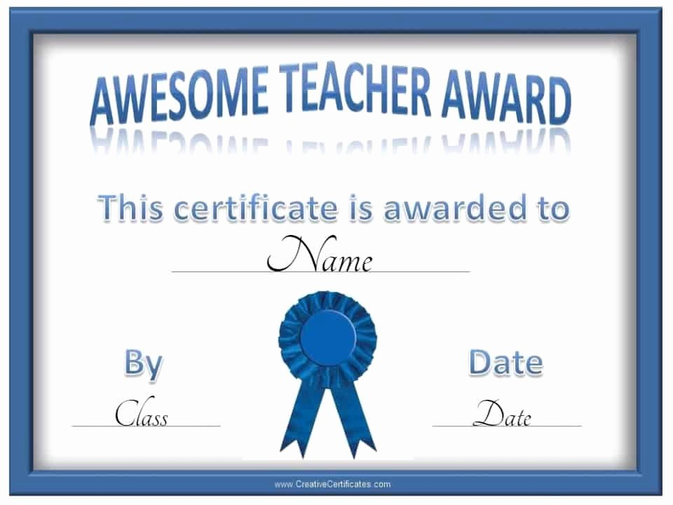 Teacher Appreciation Awards Printable Lovely Free Teacher Awards