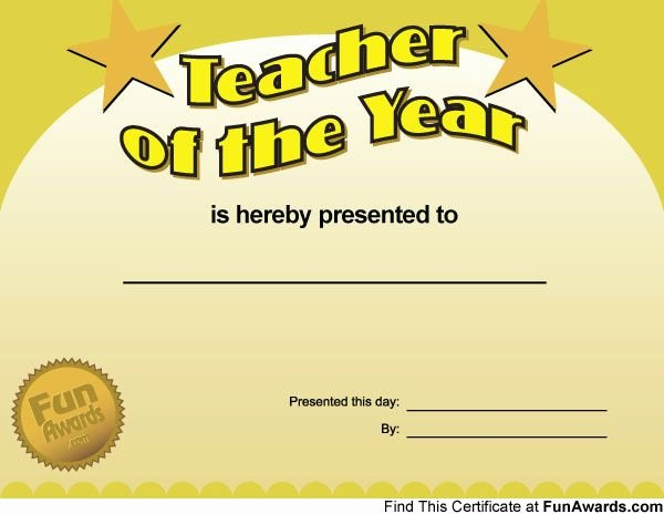 Teacher Appreciation Awards Printable Luxury Funny Award Ideas