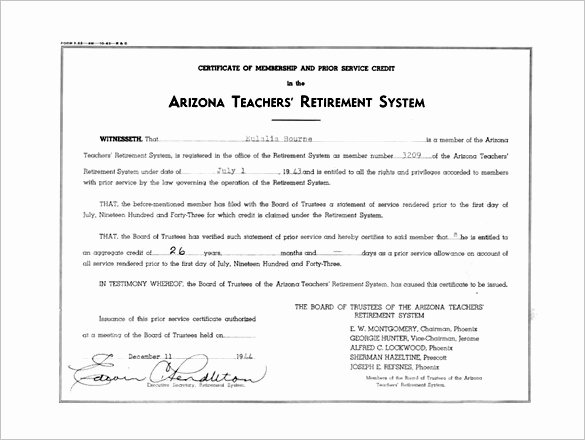 Teacher Appreciation Certificate Pdf Awesome Certificate Appreciation for Retired Teachers